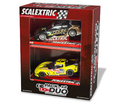 PACK DUO COCHES MERCEDES AMG+ CHEVROLET CORVETTE SCALEXTRIC