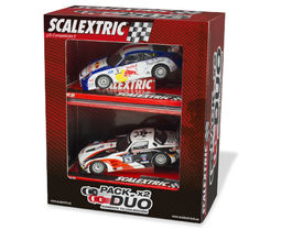 PACK DUO COCHES PORSCHE 911 + MERCEDES SLS GT3 SCALEXTRIC