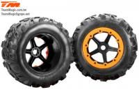 RUEDAS MONSTER TRUCK 2ud CON LLANTA 7.1'' TEAM MAGIC