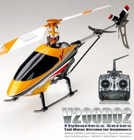 WALKERA V200D02 ALUM FLYBARLESS  4CH HELICOPTERO