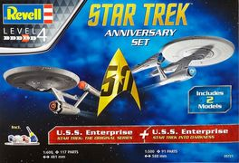 STAR TREK SET ANIVERSARIO USS ENTERPRISE REVELL