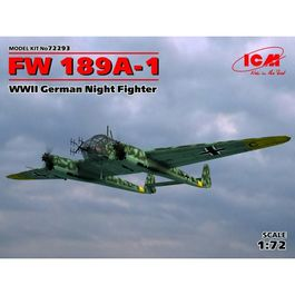 FW 189A-1 CAZA NOCTURNO ALEMAN WWII 1/72 ICM