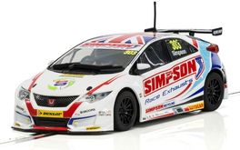 HONDA CIVIC TYPE R MATT SIMPSON BTCC 1/32 SUPERSLOT