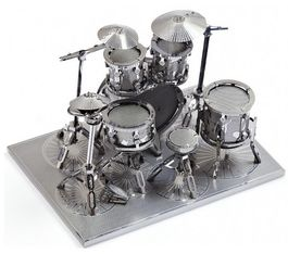 DRUM KIT, KIT 3D METAL.