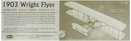 FLYER 1903 WRIGHT 1/20 GUILLOWS