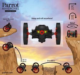 JUMPING SUMO NEGRO PARROT