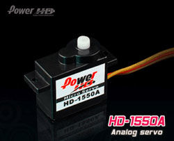 1550A 1.1kg/0.10s/5.5g MICRO SERVO POWER HD