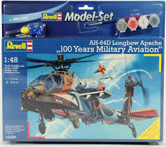 APACHE AH-64D 100 MILITARY MODEL SET 1/48 REVELL